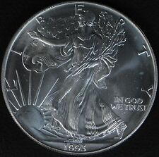 1993 Silver Eagle Fresh BU Roll of 20 Low Mintage