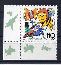 Bund Mi-Nr 1992 Ecke 3 (110+50 pf) Für die Jugend  Biene Maja ** Postfrisch 1998