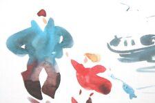 Breton cartes enfant art Cambier à encadrer déco marine mer pêche à pied Lot x7