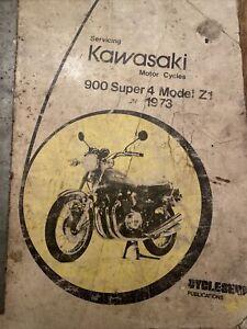 1973 SHOP MANUAL KZ900 Z1 SERVICE REPAIR BOOK KAWASAKI WORKSHOP 900 SUPER 4 Z1