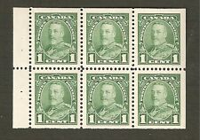 217b 1¢ Pictorial Issue Booklet Pane of 6  VFNH
