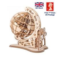 Robotime - 3D ROTATABLE GLOBE Laser Cut Wooden Puzzle DIY Toy 147pcs