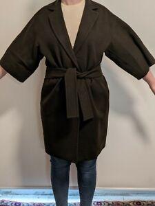 Max Mara womens wool and angora cropped sleeve overcoat -  size 10 - Italy
