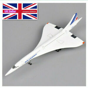 UK 1/400 Concorde Airplane Model Air France 1976-2003 Aircraft ToyS Diecast Gift