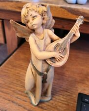 Fontanini Depose Italy -Angel Figurine Playing Mandolin #362
