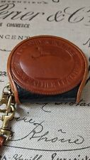 VTG Dooney And Bourke Big Duck Coin Purse Black/Brown Leather U.S.A. Brass Zip