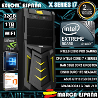 Ordenador Gaming Pc Intel i7X 32GB DDR3 1TB GT710 2GB WIFI Windows 10 Sobremesa