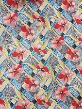 japanese retro reproduction 50s vintage cotton fabric flowers miss fat quarter