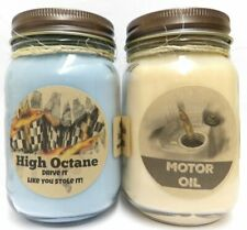 Combo - High Octane (Racing Fuel) and Motor Oil Set of Two 16oz Country Jar Soy