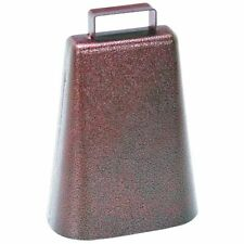 7 Inch Steel Cow Bell With Handle and Antique Copper Finish 2-pack
