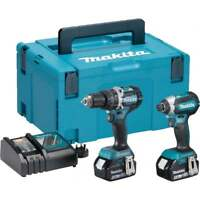 Makita DLX2180TJ 18v Brushless Twin Pack DHP484 and DTD153 2 x 5.0Ah Batteries