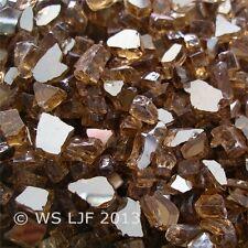 "50 LBS 1/4"" Copper Reflective Fireglass Fire Pit Rocks Fireplace Glass Crystals"
