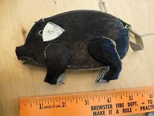 Pig Pigskin Purse Zipper Leather Genuine Porcine