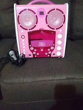 KIDS- The SINGING MACHINE Disco LIGHT UP KARAOKE SML-383P- PINK Works. OS