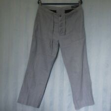GAZMAN Men's Casual Pants Size W 87 / 34 Relaxed Fit Button Fly, Grey, Shortened