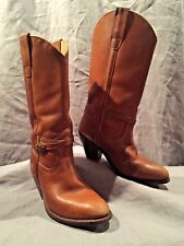 """""""The Wild Pair"""" Vintage Womens Brown Leather Western Cowboy Boots 6.5B  6 ½ B"""