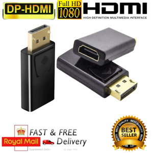 Ultra HD Display Port DP Male To HDMI Female Adapter Cable Converter For HDTV PC