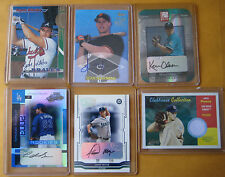 Lot of (5) Auto Auotgraph Cards PLUS (1) Game Used