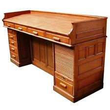Antique Oak American Architect's Desk circa 1890 #4839