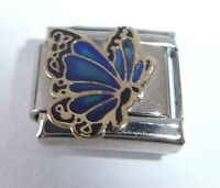BUTTERFLY MOOD STONE Italian Charm - Moodstone Changes Colour fits 9mm Bracelets
