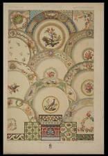 PEINTURES PORCELAINES 18e - LITHOGRAPHIE 1869 - RACINET, ORNEMENTATION, BUFFON