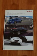 Brochure  Honda Civic Euro 5 doors, TypeS, TypeR, White Championship WCE, Access