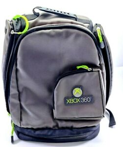 XBOX 360 Backpack Protective Backpack Bag Black Gray & Green