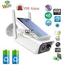 1x Solar Rechargeable Battery 1080P WIFI IP Camera Indoor/Outdoor iCSee App