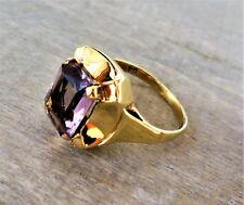 Stilvoller Ring mit Amethyst aus 585 / 14 K Gold (gestempelt)
