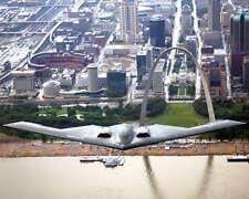 B-2 Spirit In Flight Over Mississippi River 8x10 Photo