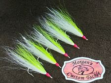 STRIPER FLOUNDER SALTWATER TEASERS 4/0 BUCKTAIL STREAMER FLIES JIGS FLUKE