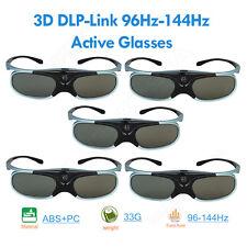 5Pcs 3D DLP-Link 96Hz/144Hz Active Glasses USB Chargeable Blue Fr Acer Projector