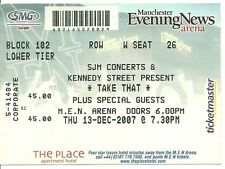 Rare/ticket concert live-take that to manchester (uk) - 13 December 2007