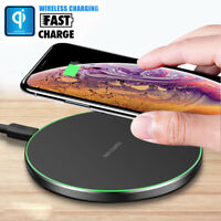 Fast Qi Wireless Charger Charging Metal Pad For Samsung S9 S8+ iPhone X Xs Max