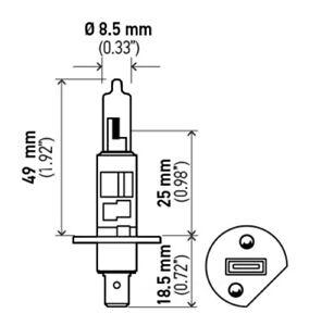 Headlight Bulb Hella H1 100W