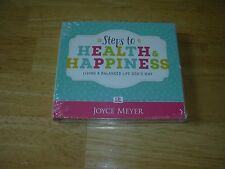 "Joyce Meyer ""Steps to Health & Happiness""  4CD set New"