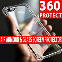 Case For iPhone XR XS Max X Shockproof Clear Bumper Protective Slim Back Cover