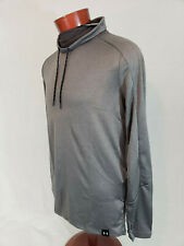 Under Armour Lighter Longer Funnel Neck Mens Long Sleeve Shirt Gray M Nwt Fitted