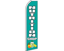 Nutrition Shop Blue / White Swooper Super Feather Advertising Flag