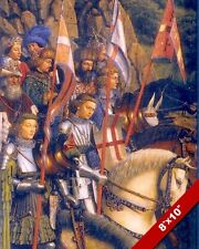 ORDER OF THE KNIGHTS OF CHRIST GHENT ALTARPIECE PAINTING ART REAL CANVASPRINT