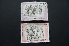 Rumänien, 1965, Tänzer (2 Marken gestempelt)