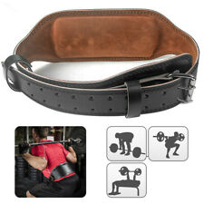Thickened Gym Weight Lifting Belt Leather Training Fitness Power Back Support UK