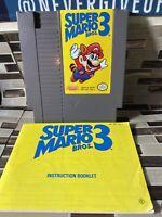 Super Mario Bros. 3 (Nintendo Entertainment System, 1990) With Booklet