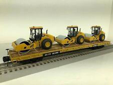 MTH TRAINMAN Custom with 3 Caterpillar CS11 GC Soil Compactor O Scale