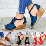 Women Fashion Casual Wedge Heel Sandals Ankle Strap  Peep Toe Sandals  Shoes Hot