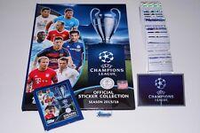 TOPPS Champions League 15/16 Komplettset + Hardcover Album + Tüte