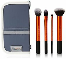Real Techniques Core Collection Makeup Brushes 4 Pcs Travel Kit Set