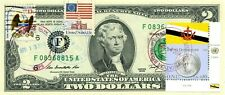 $2 DOLLARS 2009 FIRST DAY STAMP CANCEL FLAG OF UN FROM BRUNEI LUCKY MONEY $150