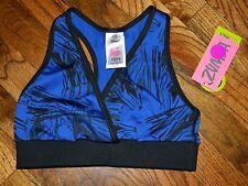 Zumba Dance XSpicy Sports Bra Womens Blue/Black Size XSmall