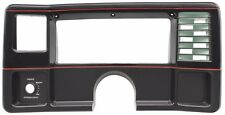 82-88 Monte Carlo SS El Camino NEW Dash Face Plate Black with Red Stripes